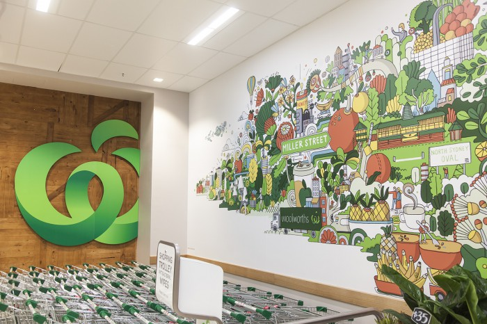 Woolworths national store murals