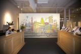 Town Real Estate office mural NYC
