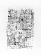 All The Buildings In New York Screenprint