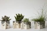 Mini Man Ceramic Planters