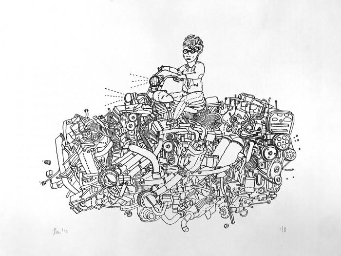Motorbike print