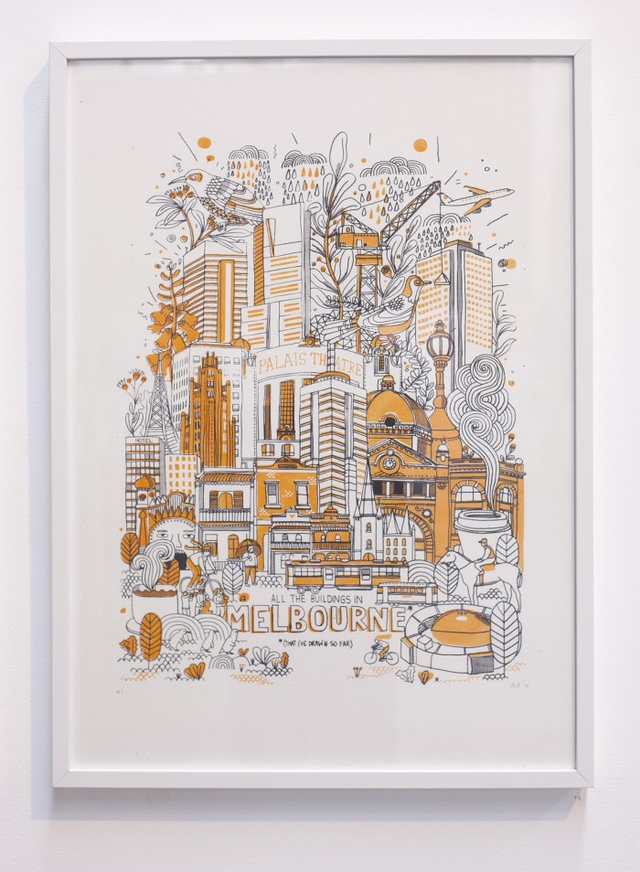 All the Buildings In Melbourne Print