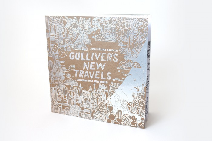 Gulliver's New Travels colouring book