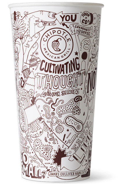Chipotle 'Cultivating Thought' cup series