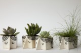 Mini Man Ceramic Planters